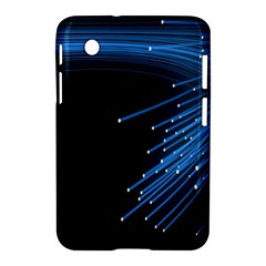 Abstract Light Rays Stripes Lines Black Blue Samsung Galaxy Tab 2 (7 ) P3100 Hardshell Case  by Alisyart