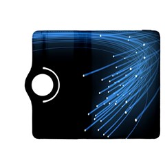 Abstract Light Rays Stripes Lines Black Blue Kindle Fire Hdx 8 9  Flip 360 Case by Alisyart