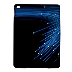 Abstract Light Rays Stripes Lines Black Blue Ipad Air 2 Hardshell Cases by Alisyart