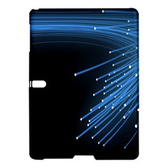 Abstract Light Rays Stripes Lines Black Blue Samsung Galaxy Tab S (10 5 ) Hardshell Case  by Alisyart