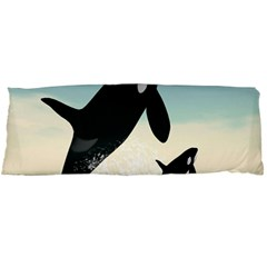 Whale Mum Baby Jump Body Pillow Case Dakimakura (two Sides) by Alisyart