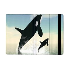 Whale Mum Baby Jump Ipad Mini 2 Flip Cases by Alisyart