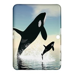 Whale Mum Baby Jump Samsung Galaxy Tab 4 (10 1 ) Hardshell Case  by Alisyart