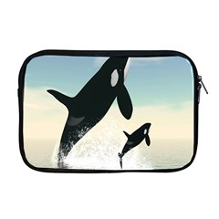 Whale Mum Baby Jump Apple Macbook Pro 17  Zipper Case by Alisyart
