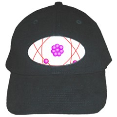 Atom Physical Chemistry Line Red Purple Space Black Cap by Alisyart