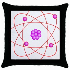Atom Physical Chemistry Line Red Purple Space Throw Pillow Case (black) by Alisyart