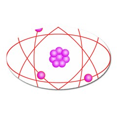 Atom Physical Chemistry Line Red Purple Space Oval Magnet by Alisyart