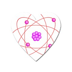 Atom Physical Chemistry Line Red Purple Space Heart Magnet by Alisyart