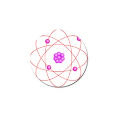 Atom Physical Chemistry Line Red Purple Space Golf Ball Marker by Alisyart