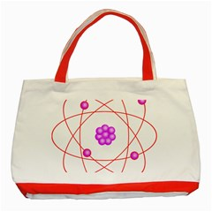 Atom Physical Chemistry Line Red Purple Space Classic Tote Bag (red) by Alisyart