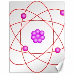 Atom Physical Chemistry Line Red Purple Space Canvas 12  X 16   by Alisyart