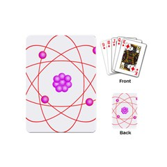 Atom Physical Chemistry Line Red Purple Space Playing Cards (mini)  by Alisyart