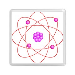 Atom Physical Chemistry Line Red Purple Space Memory Card Reader (square)  by Alisyart