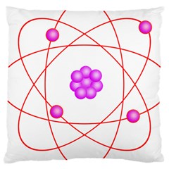 Atom Physical Chemistry Line Red Purple Space Large Cushion Case (two Sides) by Alisyart
