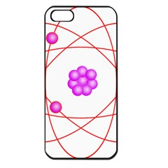 Atom Physical Chemistry Line Red Purple Space Apple Iphone 5 Seamless Case (black) by Alisyart