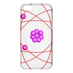 Atom Physical Chemistry Line Red Purple Space Apple Iphone 5c Hardshell Case by Alisyart