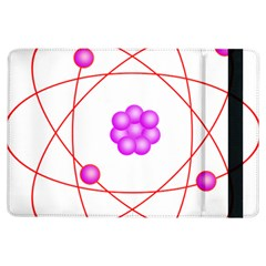 Atom Physical Chemistry Line Red Purple Space Ipad Air Flip by Alisyart