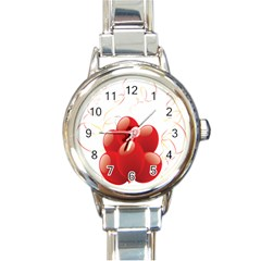 Balloon Partty Red Round Italian Charm Watch by Alisyart
