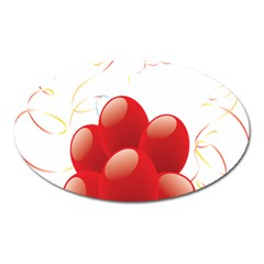 Balloon Partty Red Oval Magnet by Alisyart