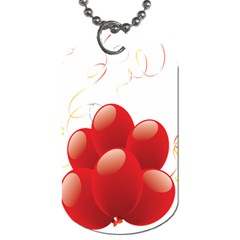 Balloon Partty Red Dog Tag (one Side) by Alisyart