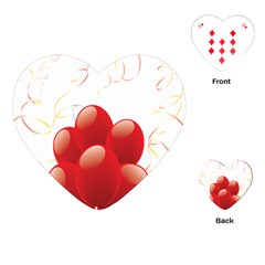 Balloon Partty Red Playing Cards (heart)  by Alisyart
