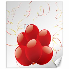 Balloon Partty Red Canvas 20  X 24   by Alisyart