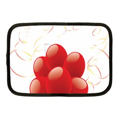 Balloon Partty Red Netbook Case (medium)  by Alisyart