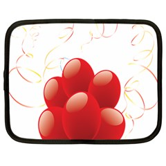 Balloon Partty Red Netbook Case (large) by Alisyart