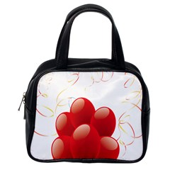 Balloon Partty Red Classic Handbags (one Side) by Alisyart