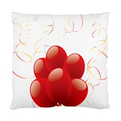 Balloon Partty Red Standard Cushion Case (two Sides) by Alisyart