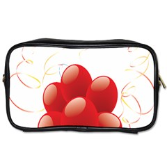 Balloon Partty Red Toiletries Bags 2 Side by Alisyart