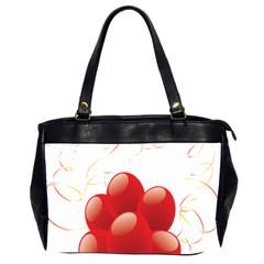 Balloon Partty Red Office Handbags (2 Sides)  by Alisyart