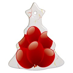 Balloon Partty Red Ornament (christmas Tree)  by Alisyart