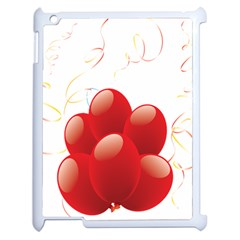 Balloon Partty Red Apple Ipad 2 Case (white) by Alisyart