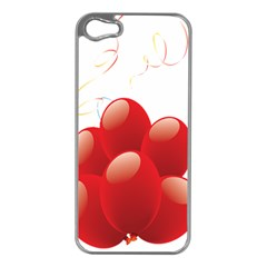 Balloon Partty Red Apple Iphone 5 Case (silver) by Alisyart