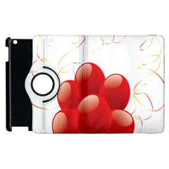 Balloon Partty Red Apple Ipad 3/4 Flip 360 Case by Alisyart