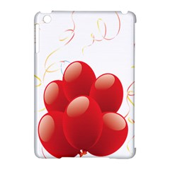 Balloon Partty Red Apple Ipad Mini Hardshell Case (compatible With Smart Cover) by Alisyart