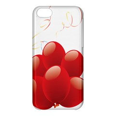Balloon Partty Red Apple Iphone 5c Hardshell Case by Alisyart