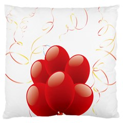 Balloon Partty Red Standard Flano Cushion Case (two Sides) by Alisyart