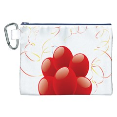 Balloon Partty Red Canvas Cosmetic Bag (xxl) by Alisyart