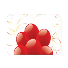 Balloon Partty Red Double Sided Flano Blanket (mini)  by Alisyart