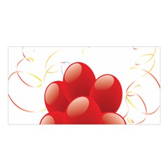 Balloon Partty Red Satin Shawl by Alisyart
