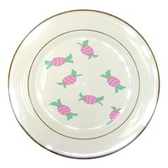 Candy Pink Blue Sweet Porcelain Plates by Alisyart
