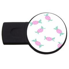 Candy Pink Blue Sweet Usb Flash Drive Round (4 Gb) by Alisyart