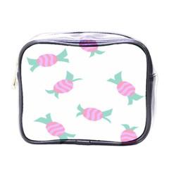 Candy Pink Blue Sweet Mini Toiletries Bags by Alisyart