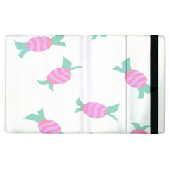 Candy Pink Blue Sweet Apple Ipad 2 Flip Case by Alisyart