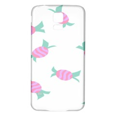 Candy Pink Blue Sweet Samsung Galaxy S5 Back Case (white) by Alisyart