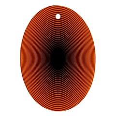 Abstract Circle Hole Black Orange Line Ornament (oval) by Alisyart
