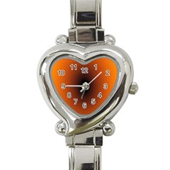 Abstract Circle Hole Black Orange Line Heart Italian Charm Watch by Alisyart