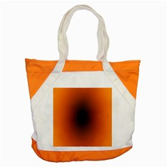 Abstract Circle Hole Black Orange Line Accent Tote Bag by Alisyart